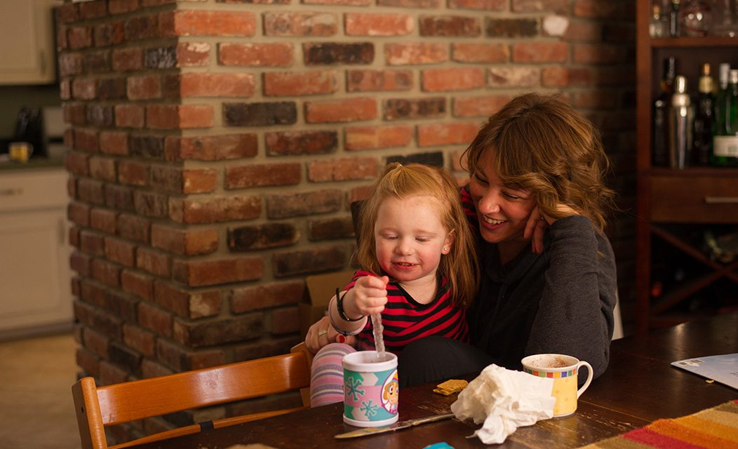 Hot chocolate moment: Beverly, MA family photography
