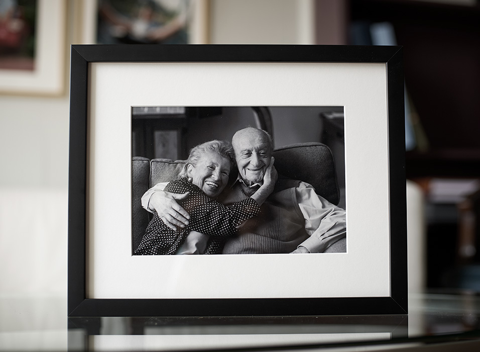 beautiful portrait of grandparents